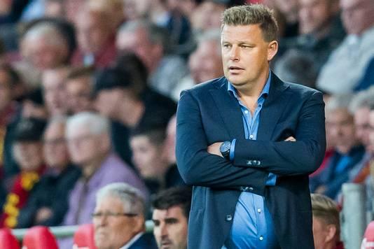Go Ahead Eagles-trainer John Stegeman ziet zijn ploeg niet als favoriet.