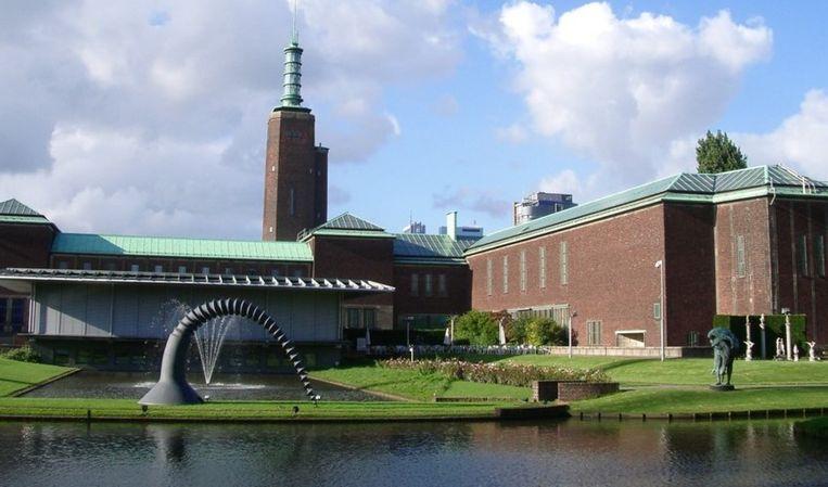 Museum Boijmans Van Beuningen, gezien vanuit het Museumpark. Beeld Boijmans