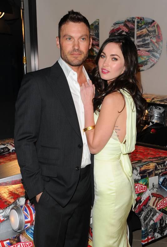 Brian met Megan Fox in betere tijden, in 2011 in New York.
