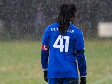 Purrel Fränkel met Duno en shirtnummer 42 hoofdklasse in