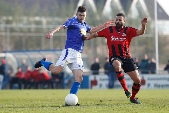 Stojan Cekic (links) vindt RVC'33 de perfecte club maar hoopt hogerop te kunnen.
