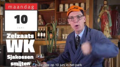 Guust 'van café De Volkswijsheid' presenteert WK 'sjakossenwerpen'