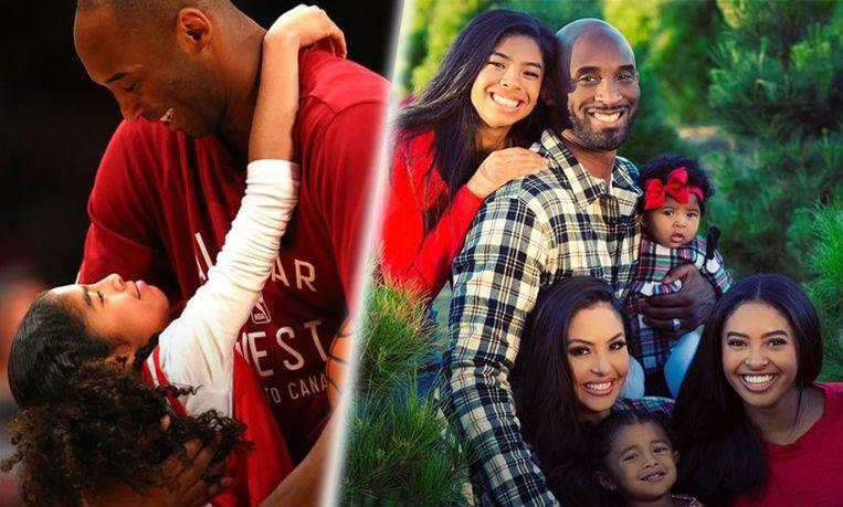 De twee beelden die Vanessa Bryant deelde op Instagram: links Kobe met dochtertje Gigi, rechts één van de laatste beelden van het gezin alvorens het uiteen werd gerukt.