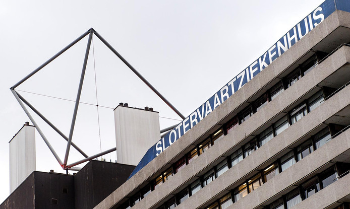 Exterieur van het Slotervaartziekenhuis in Amsterdam.