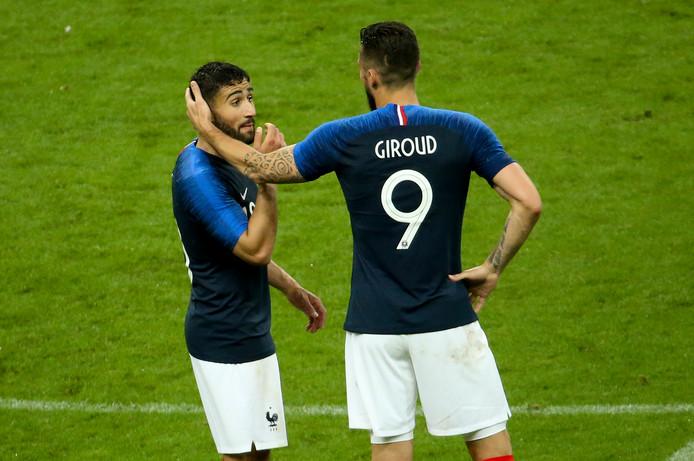 Nabil Fekir (l) scoorde dinsdag voor Frankrijk tegen Ierland.