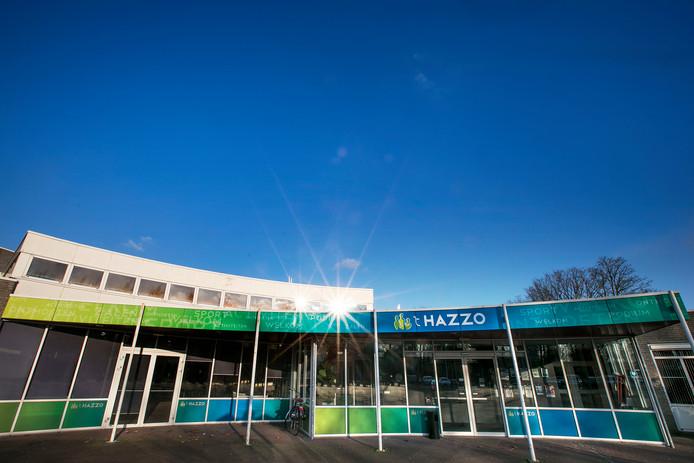 Het zalencentrum van 't Hazzo staat inmiddels leeg.