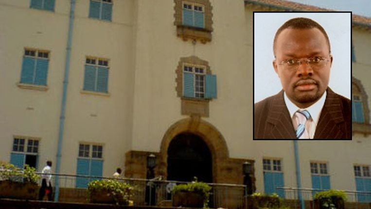 De Makerere University. Kader: Venansius Baryamureeba. Beeld mak.ac.ug/Wikipedia