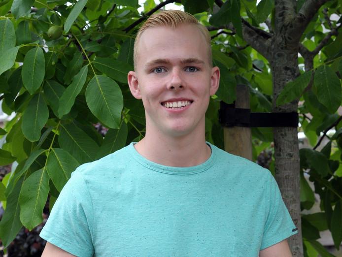 Wouter Vaes moest op de tweede ronde examens wachten om óók Wiskunde A op zijn eindlijst te kunnen bijschrijven.