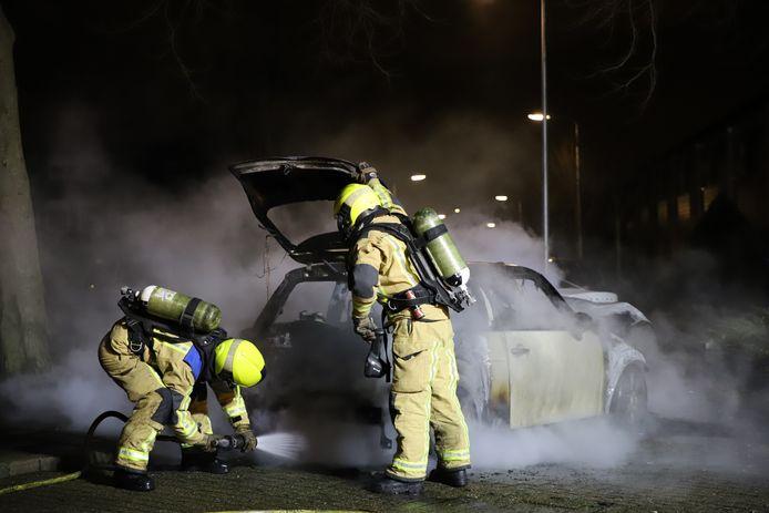 Autobrand in Wateringen.