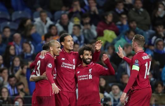 Liverpool is door naar de halve finales van de Champions League.