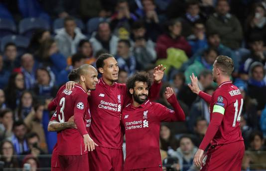 Liverpool is door naar de halve finales van de Champions League.