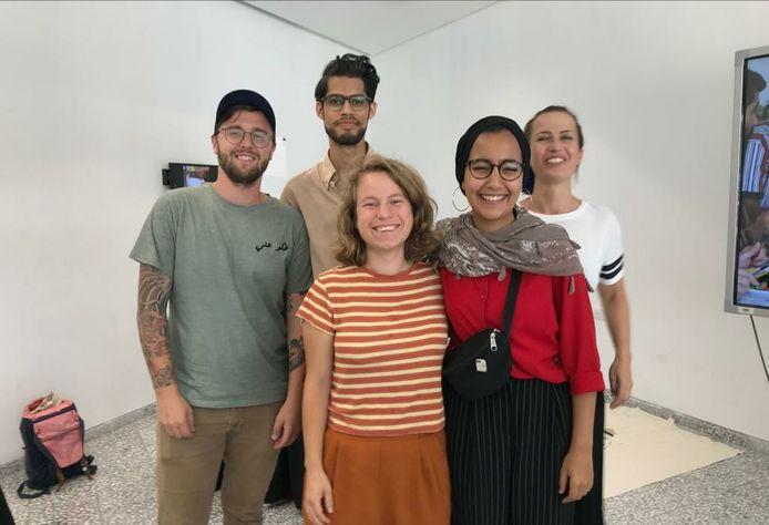 De Alumni van Sint Lucas die naar Palestina vertrokken voor de summerschool 'Disarming Design From Palestine'.