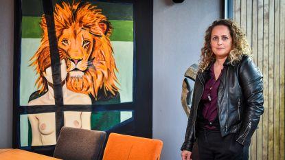 Dendermondse kunstenares Nathalie Pien exposeert in Ghelamco Arena