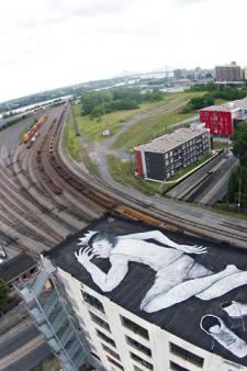 Slapende reuzen op Rotterdamse daken zijn veel meer dan een groot kunstwerk