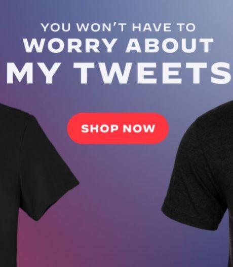 """Le t-shirt ironique vendu par Joe Biden: """"Vous n'aurez pas à vous soucier de mes tweets"""""""