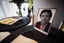 Een condoleanceregister voor de doodgeschoten advocaat Derk Wiersum.