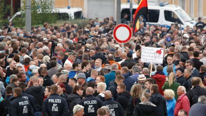 Rechtse betoging in Chemnitz: verhitte sfeer, maar geen grote incidenten