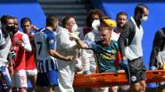 Spelers neus aan neus: Brighton-spits Maupay doet Arsenal pijn door eerst Leno te blesseren, dan winninggoal te scoren