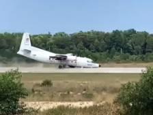Un avion obligé d'atterrir sur le nez après une panne de train d'atterrissage