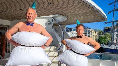 """Gert en James blikken terug op hun corona-seizoen op de Evanna: """"Ons plan om minder lollig te doen, lieten we snel varen"""""""