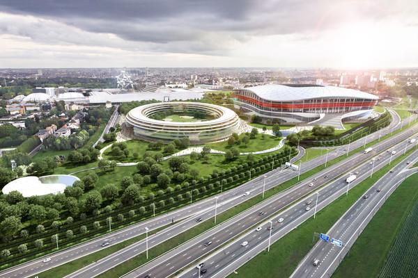 Zo had het nieuwe stadion in Brussel eruit moeten zien.