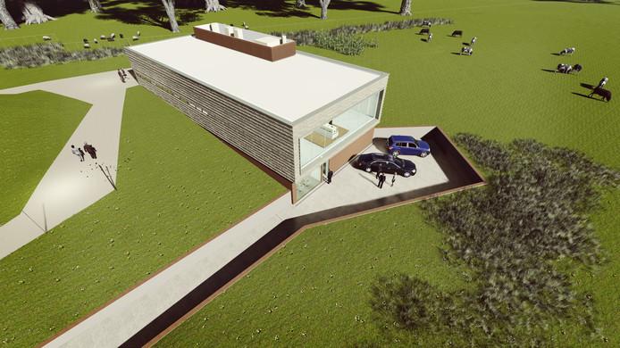Het nieuwe crematorium in Oldenzaal.