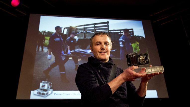 De winnaar van de Zilveren Camera 2014, Pierre Crom. Beeld anp