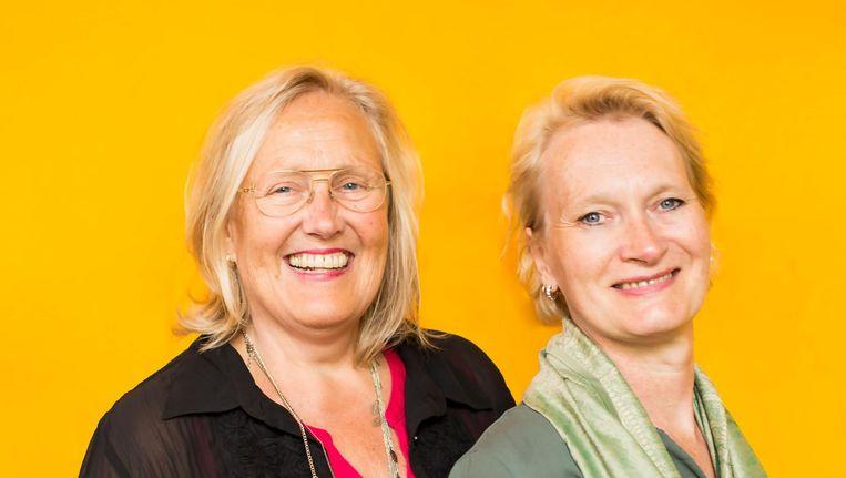 Pauline Burmann (l), voorzitter van Thami Mnyele, en bestuurslid Isabelle Vermeij. Beeld Eva Plevier