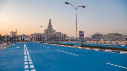 Waarom deze wereldstad haar straten blauw verft
