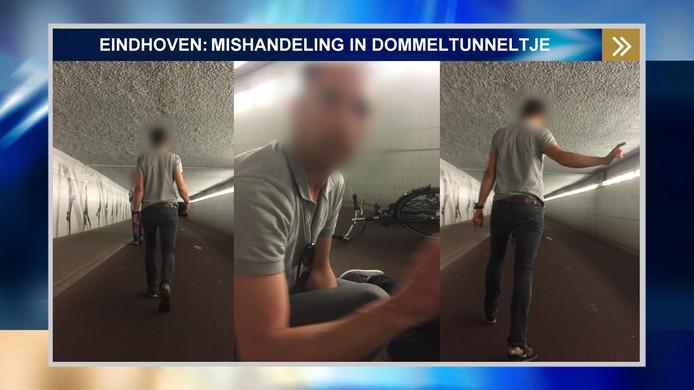 Foto van de verdachte die in een tunnel in Eindhoven een man mishandelde.