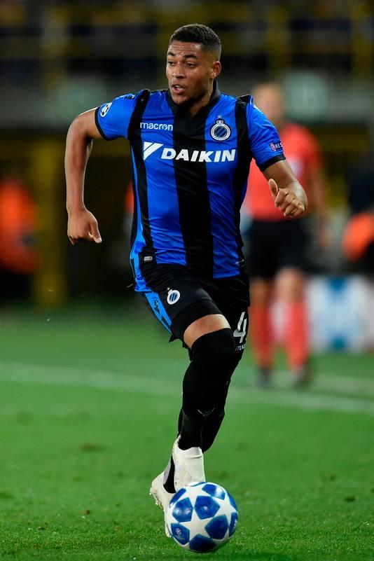 Arnaut Groeneveld in actie voor Club Brugge.