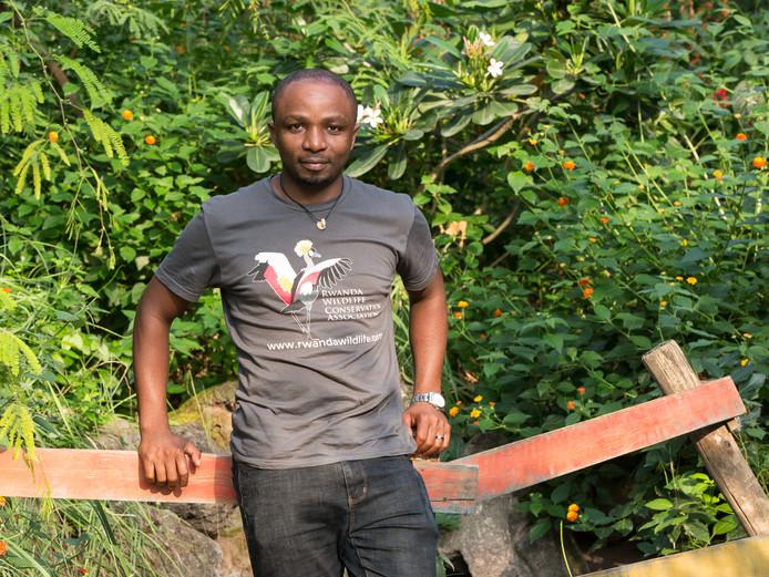 Olivier Nsengimana winnaar van de Future For Nature Award prijs van 2019.