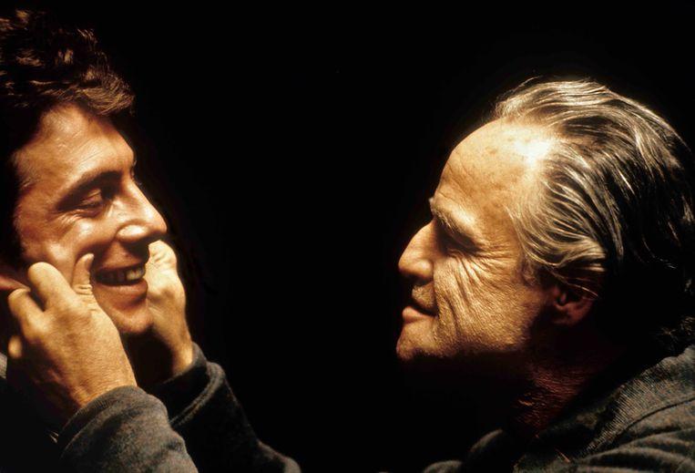 Gianni Russo en Marlon Brando in The Godfather. Beeld Imageselect