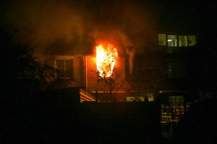Uitslaande brand in Zutphen.
