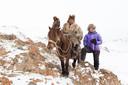 Bij één van de adelaarsjagers in Mongolië.