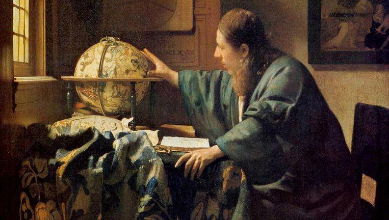 De astronoom van Johannes Vermeer Beeld Louvre
