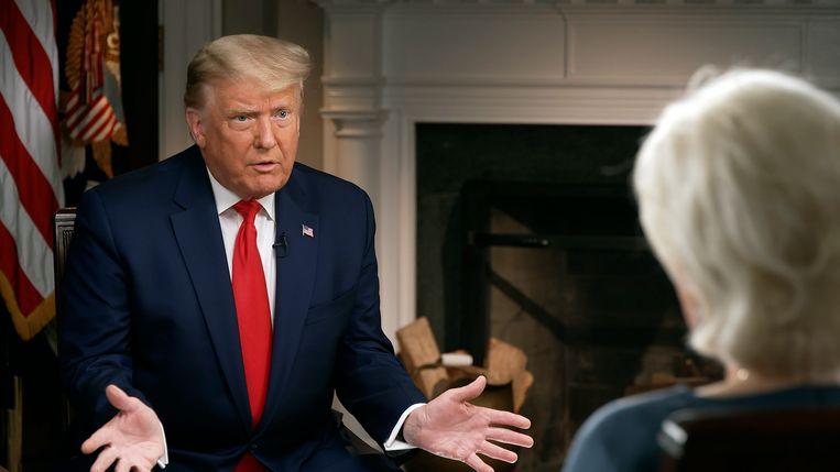 Donald Trump liep voortijdig weg bij het interview. Beeld AP