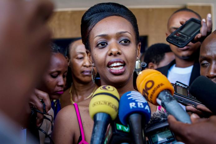 De Rwandese oppositieleidster Diane Shima Rwigara. Het Afrikaanse land Rwanda scoort aanzienlijk hoger dan Nederland als het om gelijkheid van vrouwen gaat.