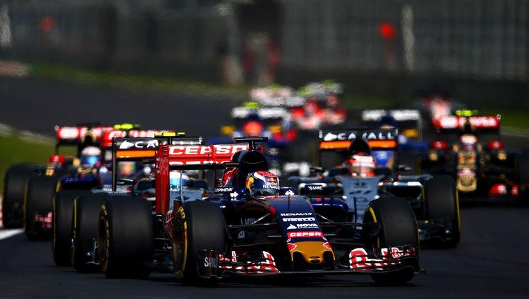 Max Verstappen tijdens de Grote Prijs van Mexico. Beeld afp