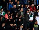 De fans van Bulgarije maakten ook nazigebaren.
