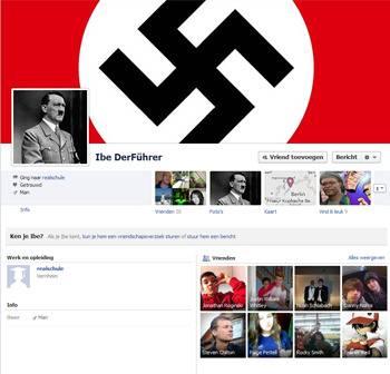 De Facebookpagina van Ibe Der Führer