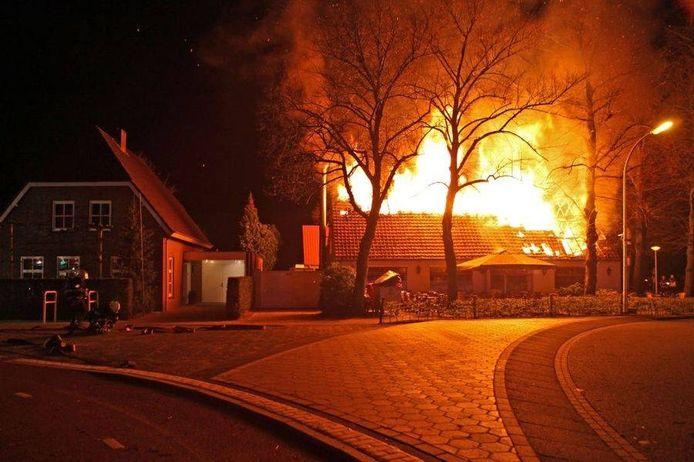 Brand bij 't Galgenwiel.