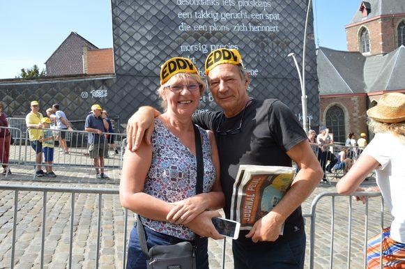 Tour de France in Geraardsbergen - Jef Vander Meeren en Brigitte De Boeck uit Denderleeuw kwamen samen naar de Tour kijken aan de Vesten in Geraardsbergen.