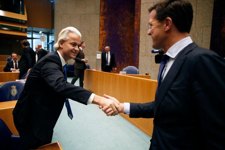 Rutte en Wilders hebben een deal gesloten over het 'premiersdebat' van RTL. Beeld anp