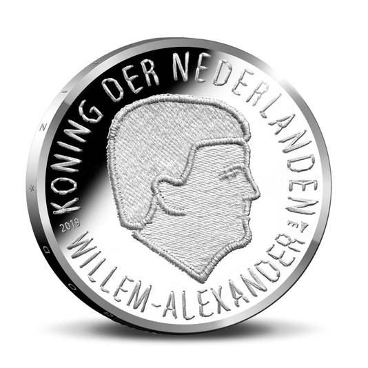 De Market Garden Munt in zilver, met de beeltenis van Koning Willem-Alexander