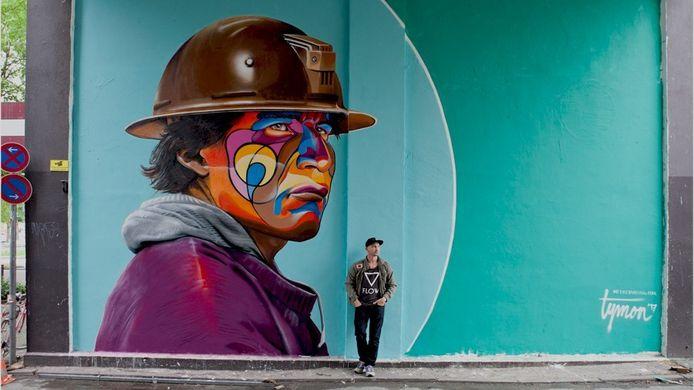 Tymon de Laat uit Rotterdam, voorheen uit Nistelrode, gaat muurschilderingen maken op een aantal gebouwen in Bernheze