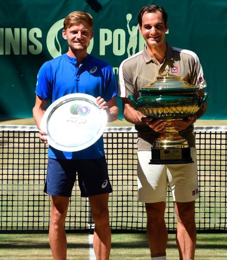"""Goffin, battu par Federer en finale à Halle: """"Ce gars n'est pas mauvais"""""""