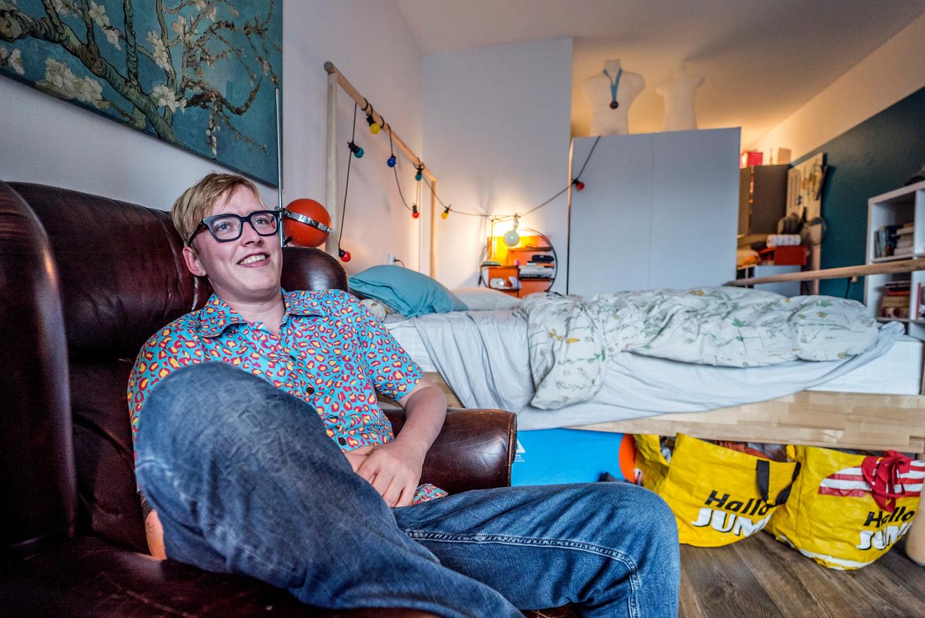Kjeld Smit laat zich zo min mogelijk belemmeren door z'n ziekte.