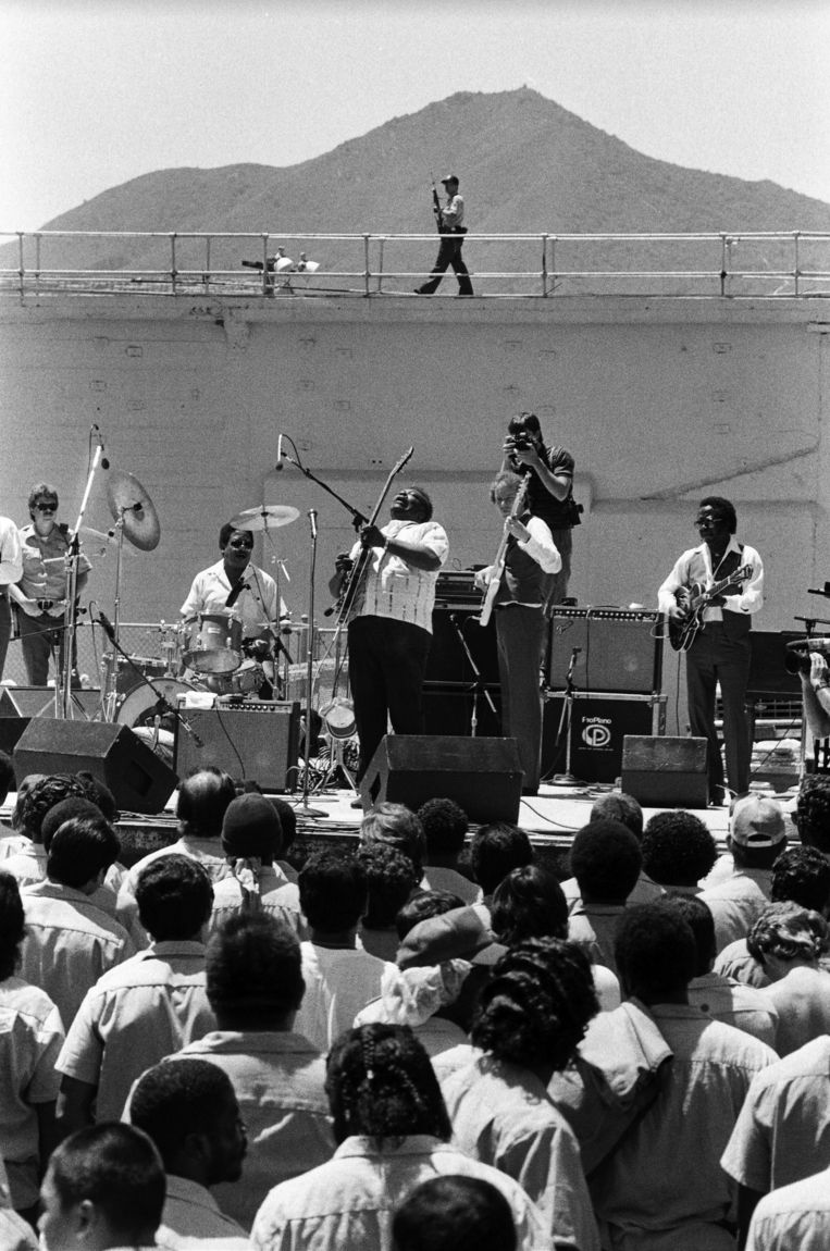 B.B. King live in de San Quentin Prison, 1981 Beeld Getty Images