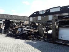 Vlammenzee legt zes schuurtjes in de as in Veghel: 'Daar stond ik dan met mijn tuinslang'